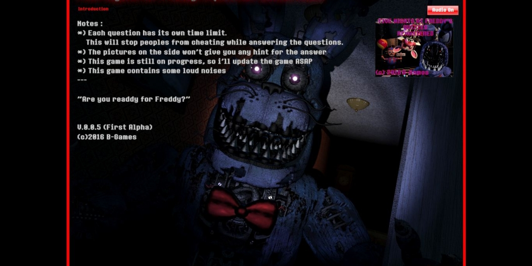 Five Nights at Freddy's Quizzes REMASTERED